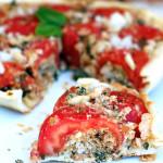 Tatin di pomodori ripieni alle briciole aromatiche