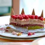 Una torta per il Contest: Vortice ai lamponi e pistacchi