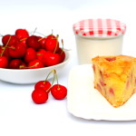 Torta allo yogurt, ricotta e ciliegie (senza burro)
