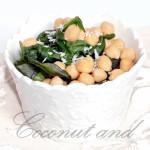 Insalata di ceci, spinacino e cocco
