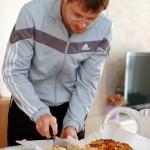 Pizza alla zucca, toma e cipolle rosse.
