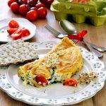 Omelette alla borragine e germogli
