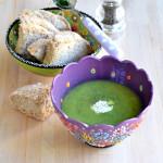 Vellutata di zucchine e pane integrale al farro (a lievitazione naturale)