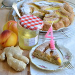 E son 4… Happy Birthday blog! Torta di pesche e sciroppo di zenzero