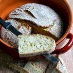 Pane senza impasto al Kamut (lievitazione naturale)
