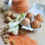 Gli avanzi? Li cuciniamo! Finto arrosto di noci, lenticchie e carne in salsa rosata