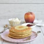 Pancake integrali alla mela ( senza glutine, senza zucchero )