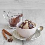 Vegan Sundae chai ice cream _ Gelato variegato