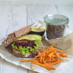 Burger di barbabietola e quinoa _Vegano_