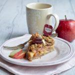 Torta crumble alle mele e burro di mandorle _ vegana_